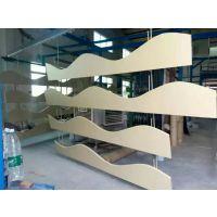 新型吊顶装饰材料弧形拉弯铝方通天花吊顶