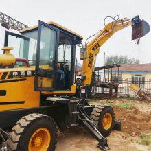小型轮式挖掘机挖沟渠泥坑油耗低中首重工品牌L