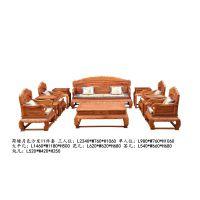 上海大清御品红木家具批发厂刺猬紫檀荷塘月色沙发11件套
