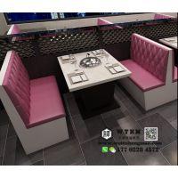 天津中餐厅卡座沙发 西餐厅卡座沙发 餐厅卡座