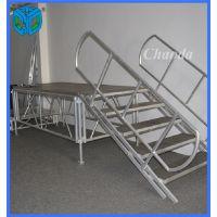 1.22*2.44m规格铝合金活动舞台 拼装升降舞台 可拆卸 简易安装
