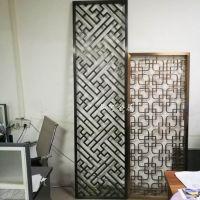 黑钛拉丝不锈钢屏风 中式屏风 客厅玄关隔断