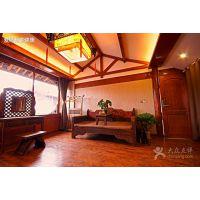 新中式实木床现代简约双人大床婚床别墅会所样板房间卧室家具定制