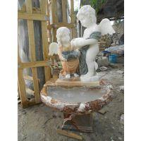 西方人物小天使 汉白玉石雕小天使 西方人物雕塑