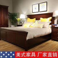 愉美雅 美式乡村桦木实木床 床头柜 四门衣柜 卧房家具定制 昆山苏州上海美式家具 美克美家风格