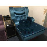 宏德家具HD-44电动桑拿沙发带智能电视机一体桑拿休息厅沙发生产厂家