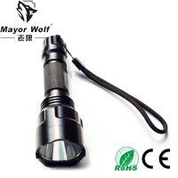 厂家批发 L2强光充电手电筒 户外照明骑行防身用品 led充电手电筒
