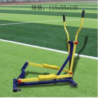 直销单人位直立式健身车 户外健身路径联动运动车 剑桥 铁