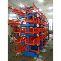 伸缩悬臂式货架规格 浙江不锈钢管存放架形式 钢管存放专用架 4吨悬臂架