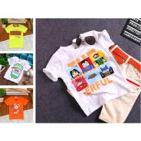 厂家直销2017夏季童装中小童半袖打底衫批发 儿童短袖t恤地摊货源
