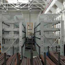 广东生产悬臂货架 伸缩式管材货架 专业管材存储 棒材存放仓库