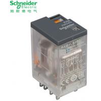 施耐德中间继电器小型继电器原装 4副触点RXM4LB2P7