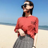 便宜女式T恤夏季短袖韩版女装上衣库存服装便宜T恤清仓1-5元服装批发