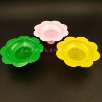 绵绵冰沙碗 新款大花碗 刨冰杯碗 炒酸奶碗 花形冰托 PET彩色冰托