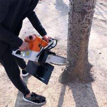 苗木整根起树机 润丰 汽油断树根挖树机 松柏起树机