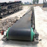 600宽固定式带挡边松散颗粒输送机 斜坡式胶带输送机 六九