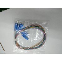 广电级电信级大方口低插损高回波SC/UPC12芯束状尾纤纤长1.5米