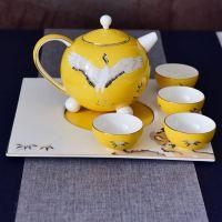 唐山浩新直供陶瓷功夫茶具套装定制 骨质瓷创意茶壶茶杯批发加LOGO