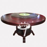 灯笼架手动餐桌 1.4m大圆桌 酒店餐厅现代中式餐桌椅组合 可定制