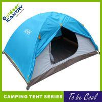 旷野户外 铝杆三季三人双层帐野外野营帐篷