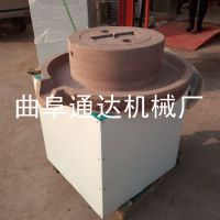 现磨豆浆加工设备 全自动电动石磨机 米浆花生酱电动石磨机 通达订做