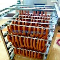 蒜蓉香肠蒸熏炉,环保型蒸汽加热自带蒸煮,烘干,烟熏功能一体的熏蒸炉设备