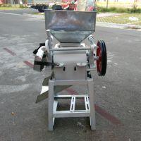 花生米破瓣机价格 厂家销售电动豆子破碎机 家用杂粮压片机