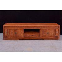 如金红木电视柜销售-缅甸花梨电视柜-古典中式视听柜