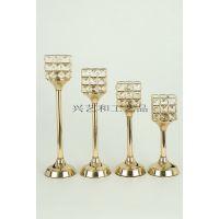 水晶欧式浪漫烛光晚餐玻璃蜡烛台家居饰品摆件创意礼物酒吧婚庆礼