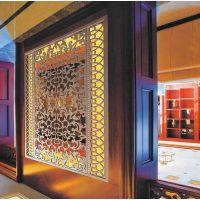 宁波中式艺术屏风 镂空隔断 铝雕装饰屏风 酒店客厅专用仿古木纹屏风