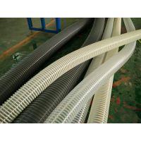 透明钢丝缠绕风管耐磨耐高温聚氨酯风管PU钢丝伸缩吸尘软管