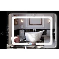 led带灯智能浴室镜高清防雾卫浴镜壁挂无框卫生间镜带灯光化妆镜