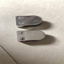 金裕 厂家售304不锈钢精铸固定夹 商场护栏玻璃固定 半圆玻璃层板夹