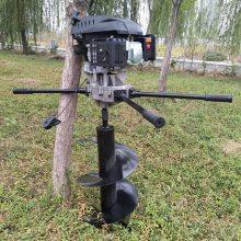 志成热卖四冲程汽油挖坑机植树造林挖坑机螺旋打孔钻洞机