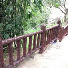 供应四川驰升水泥栏杆,防护栏,仿木纹室外景区水泥仿木栏杆厂家批发