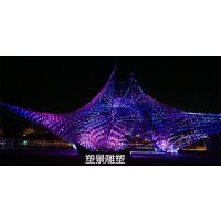 鞍山供应塑景不锈钢镂空雕塑 城市景观灯光雕塑厂家订做