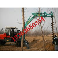 挖掘机电线杆挖坑机 履带式钩机挖坑机 质量保证汇能