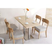海德利实木方桌正方形饭桌简约现代实木甜品店餐桌