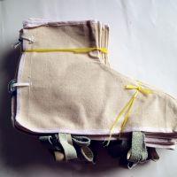 厂家直销白帆布电焊防飞溅火花耐磨隔热透气防烫护脚纯棉防护阻燃护脚盖
