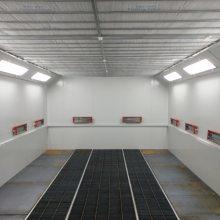 内上车型汽车烤漆房,上车台内置,节省空间,更实用,厂家包安装