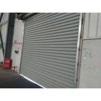 供应0.4/0.6/0.8/1.0mm厚彩钢型材大门口专用电动抗风型材卷帘门永乐卷闸门厂
