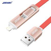 江涵 二合一数据线 彩色面条 1.5M Micro USB多功能安卓手机充电线 厂家直销