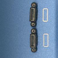 MICRO AB型防水带双耳螺丝定位孔5PIN 方口防水母座带防水胶圈
