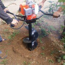 混合油大马力手提挖坑机 大马力汽油挖坑机 润众
