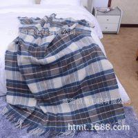 提花毯格子条纹斜纹人字纹色织定做毛毯