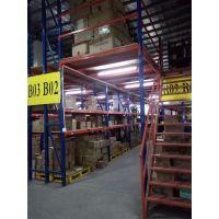 珠海阁楼货架(仓库搭二层+钢结构平台)珠海中量型阁楼货架