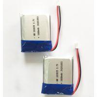 GPS导航摄像机小音箱麦克风LED灯3.7V聚合物锂电池103035/1000mah