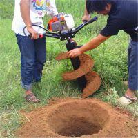 车载式螺旋挖坑机图片 果园施肥打孔机 富兴热销大直径打坑机