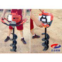 正达机械挖坑机 不同型号尺寸汽油式挖坑机报价