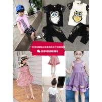 山东济南童装厂家一手货源韩版又便宜的童装去哪里拿货夏季潮流男女童套装T恤连衣裙批发